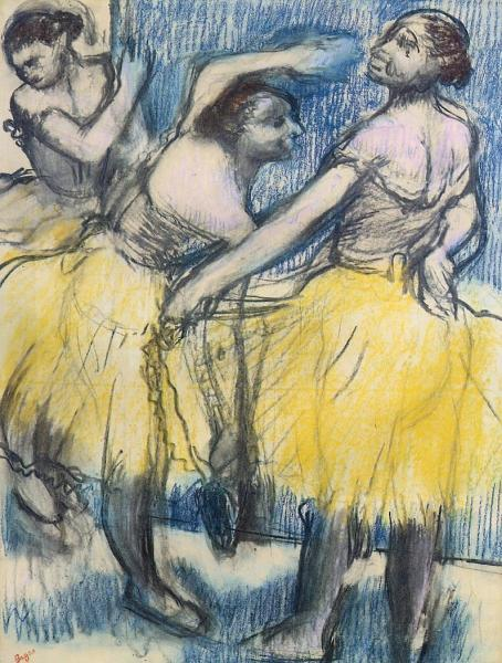 Three Dancers in Yellow Skirts