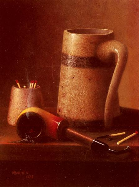 Still Life, Pipe And Mug