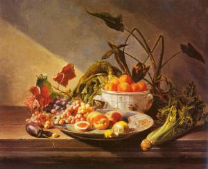 Fruit And Vegetables On A Table