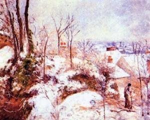 A Cottage in the Snow,oil paintings from photos
