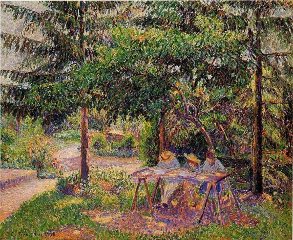 Children in a Garden at Eragny