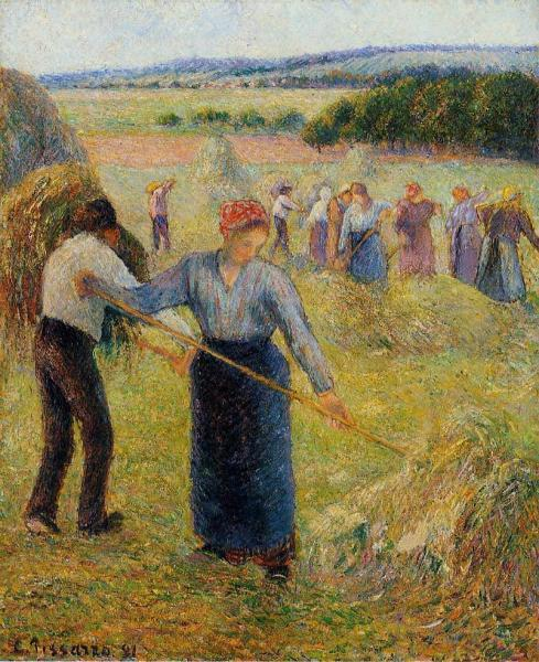 Haymaking at Eragny 1