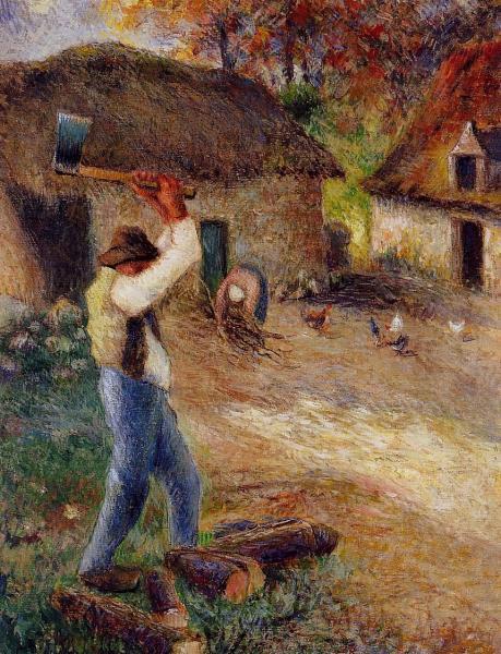 Pere Melon Cutting Wood