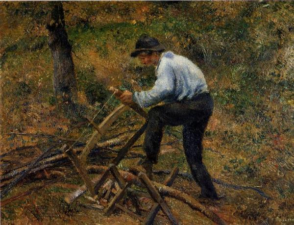 Pere Melon Sawing Wood