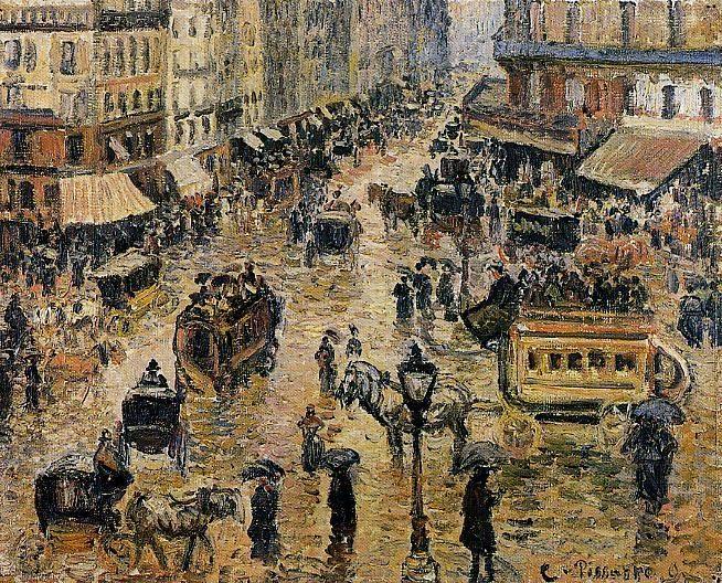 Place du Havre, Paris, Rain