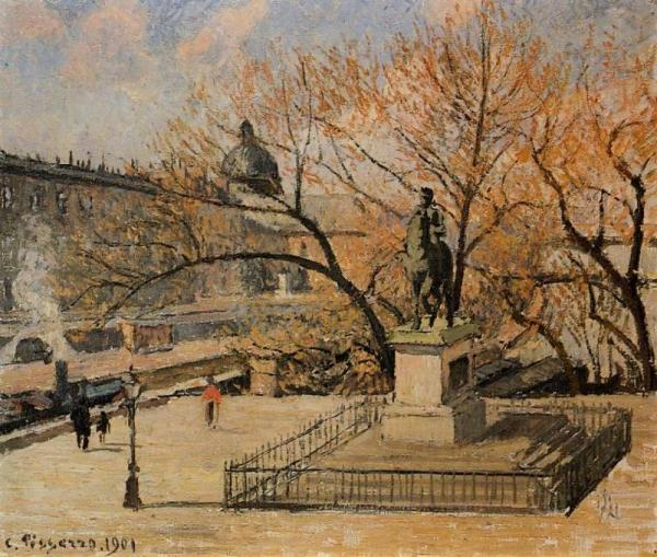 Pont-Neuf, the Statue of Henri IV - Morning, Sun