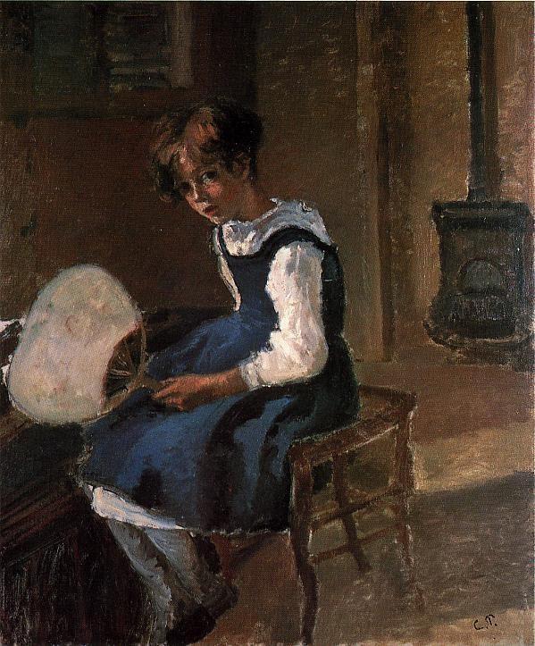 Portrait of Jeanne with a Fan