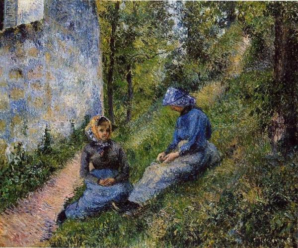Seated Peasants, Sewing