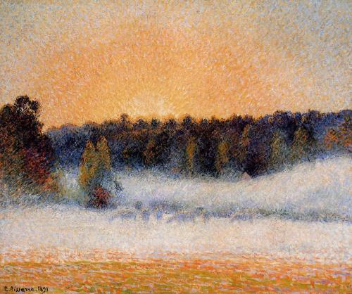 Setting Sun and Fog, Eragny