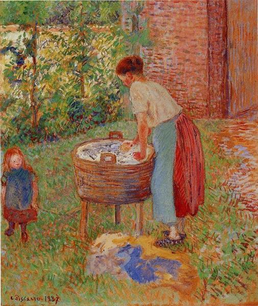 Washerwoman, Eragny