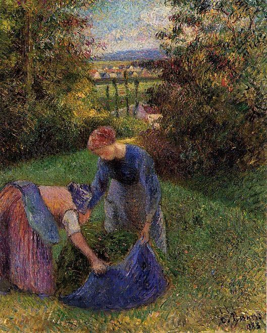 Women Gathering Grass