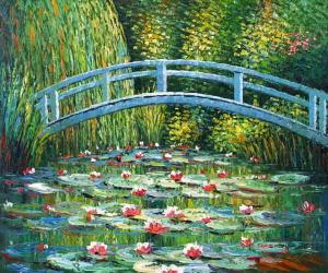 Japanese Bridge,oil painting supplies