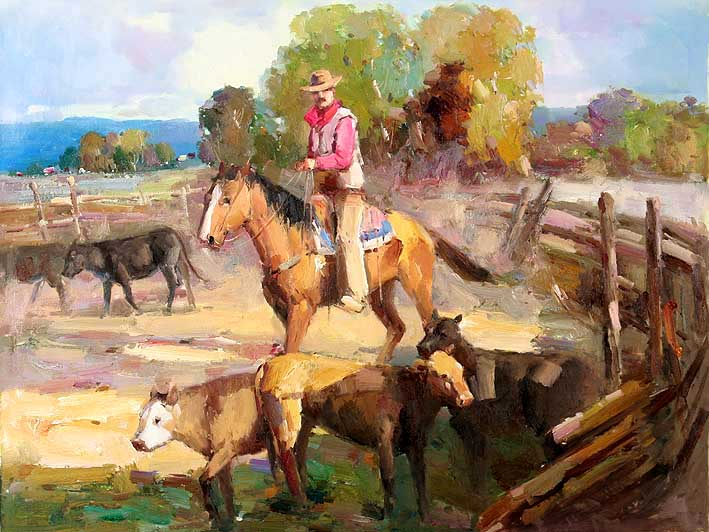 Cattle Drover at Work