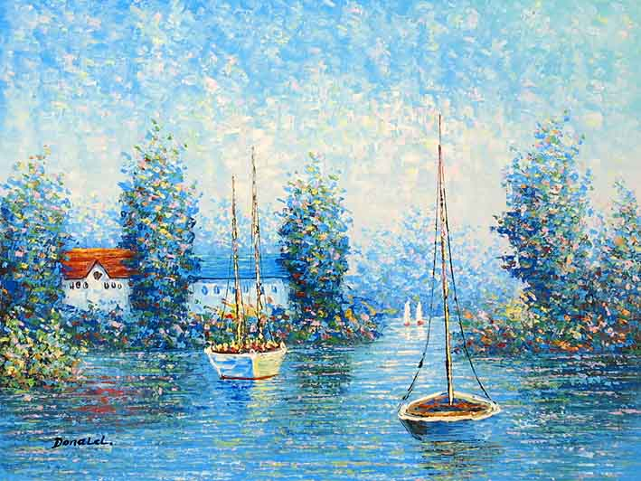The Lake Of My Village,oil painting supplies
