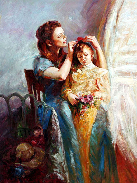 Mother Inspects Her Daughters Hair