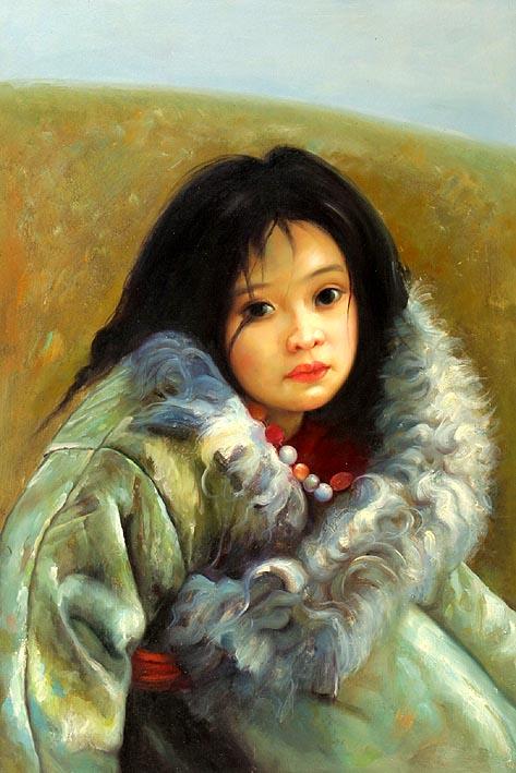 Tibetian Girl Child