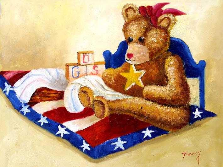 Teddy Bear In The Toy Corner