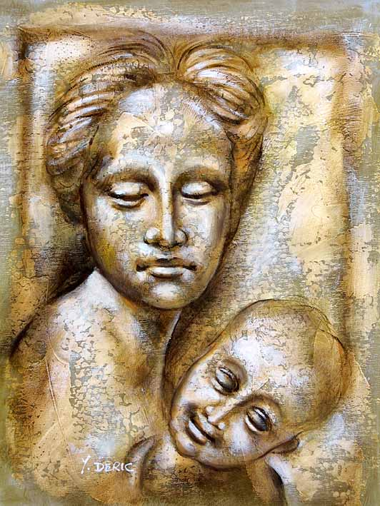 Roman Statue Mother and Her Child