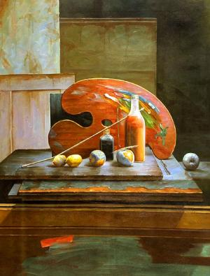 Still Life with a Palette and other Objects, I