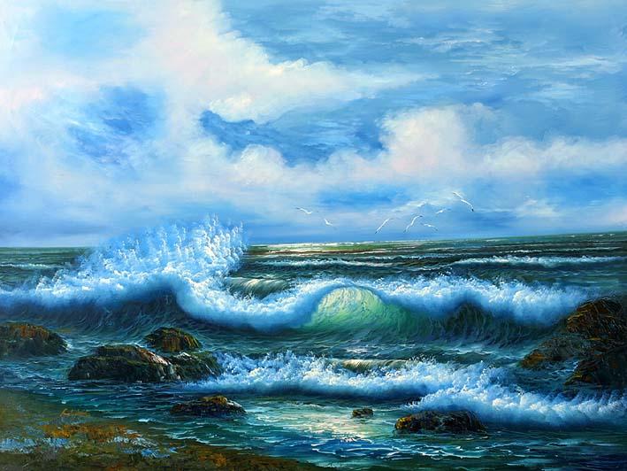 Greenish Blue Splashers
