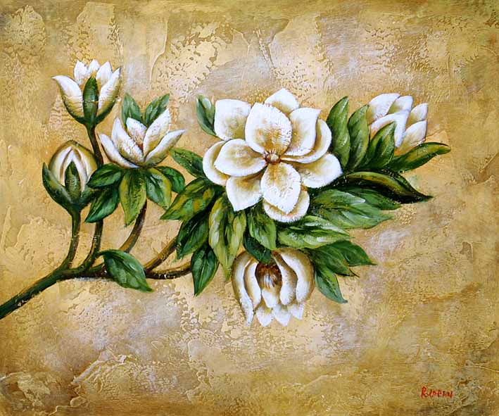 Floral Impression Flower Oil Painting Flower Painting