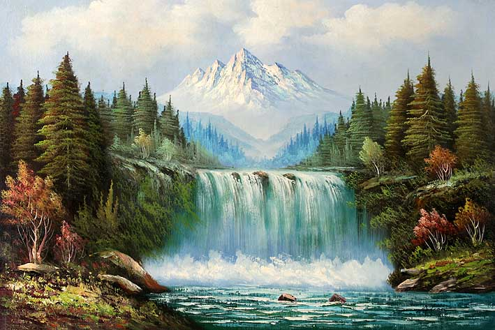 Classic Waterfall Landscape