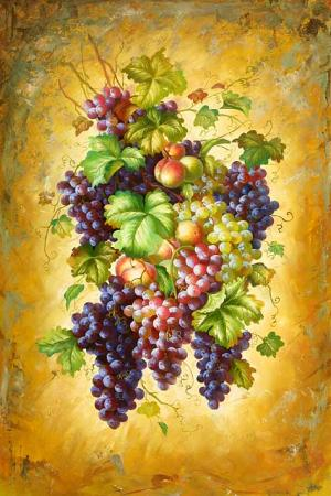 Clusters of Grapes & Peaches