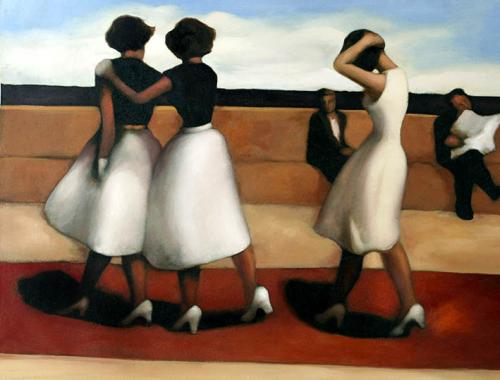 Nice Girls,oil paintings sale