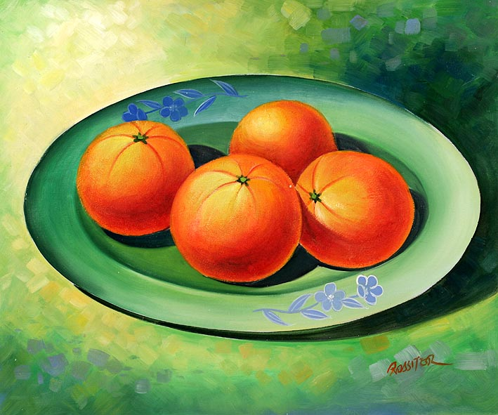 Oranges On A Dish