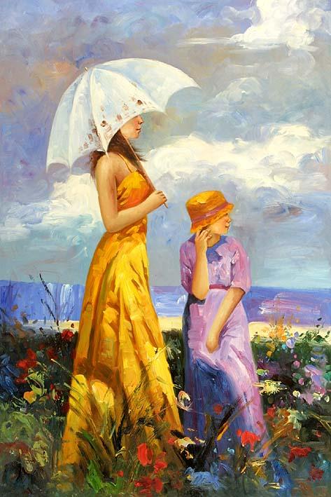 Sisters Among Dune Flowers