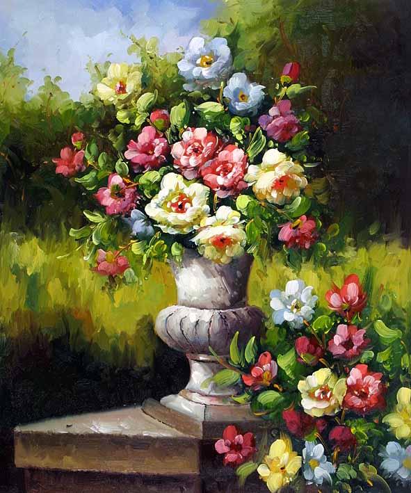 Vased Garden Flowers