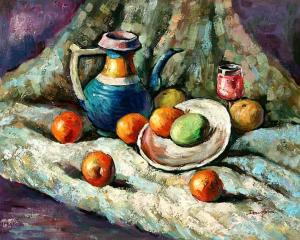 Still Life with Pottery and Fruit Pieces