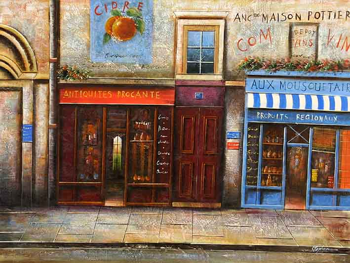French High Street Scenery