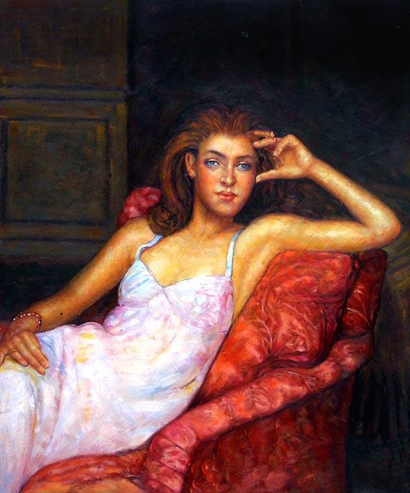Girl in Classic Roman Pose