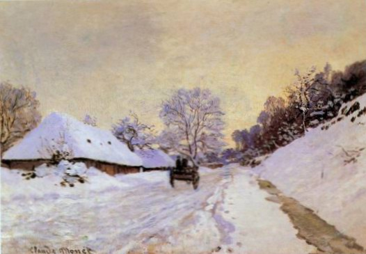 The Cart; Snow-Covered Road at Honfieur, with Sain