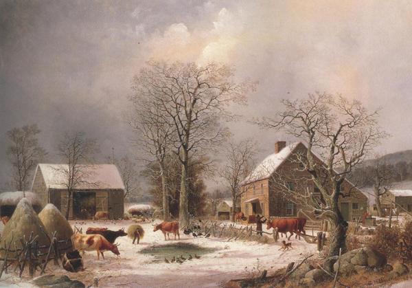 Farmyard In Winter 1847