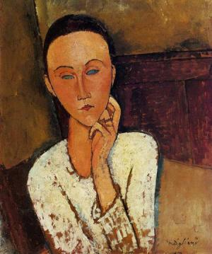 Lunia Czechowska, Left Hand on Her Cheek 1918