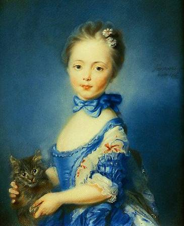 A Girl With A Kitten 1745