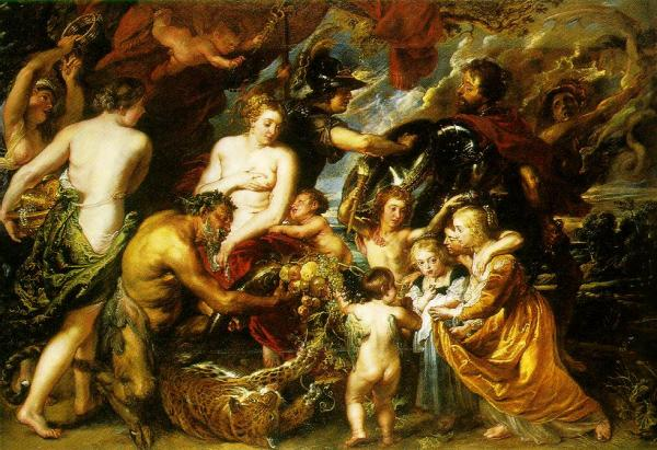 Allegory on the blessings of peace 1629 30
