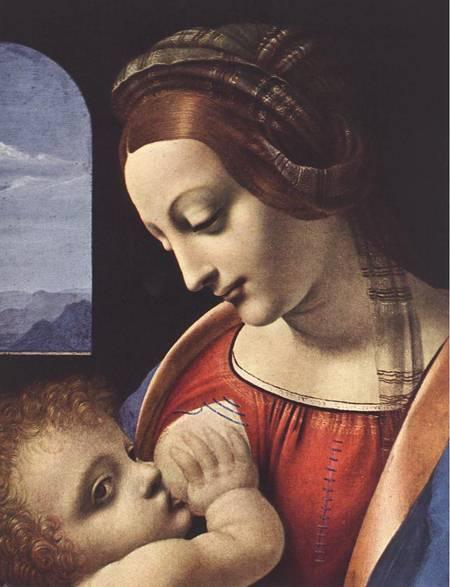 Madonna Litta detail 1