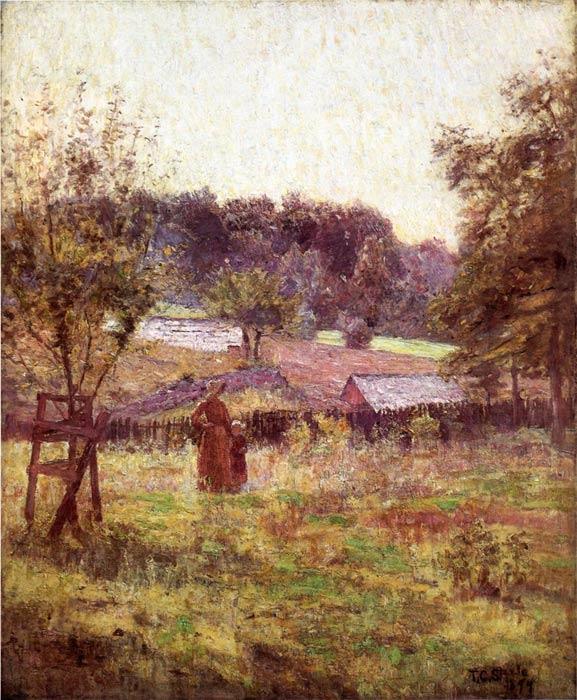 Spring landscape paintings for sale - spring landscape oil paintings, spring landscape watercolor