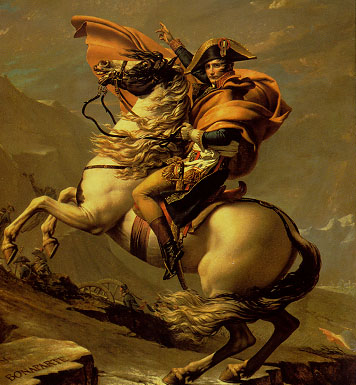 Bonaparte crossing the Alps painting, a Louis David paintings reproduction