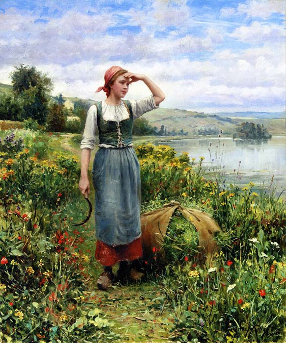 Oil Painting Reproduction of Bouguereau- LAmour senvole [Love Takes Flight]