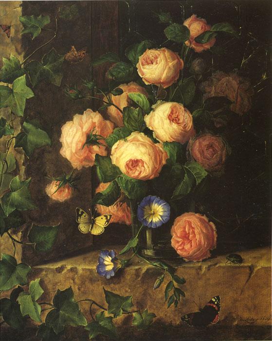 Lauer Oil Painting Reproductions- Blumenstilleben