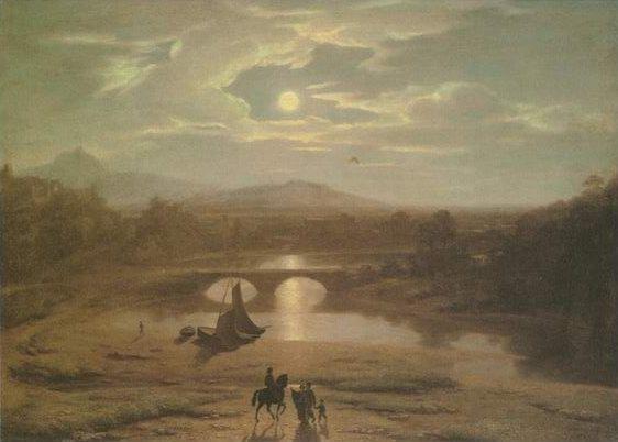 Moonlit Landscape painting, a Washington Allston paintings reproduction