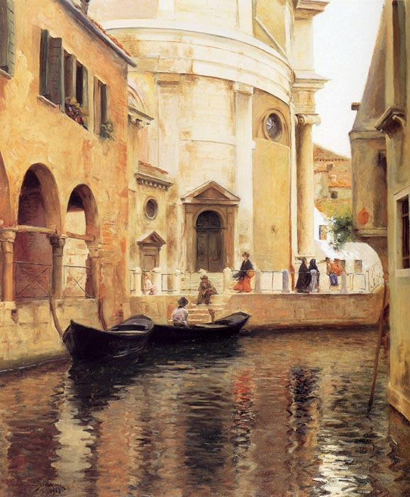 Stewart Oil Painting Reproductions - Rio della Maddalena