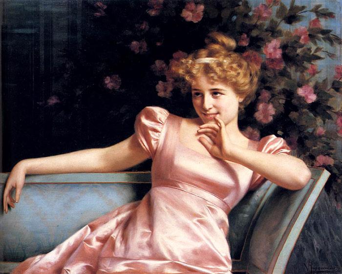 oil painting of a lovely girl