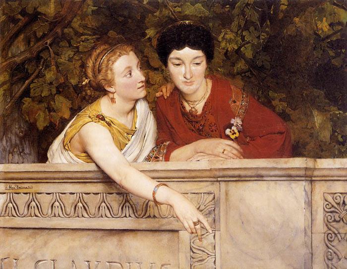 Oil Painting Reproduction of Alma Tadema - Gallo Roman Women