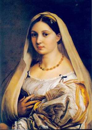 Woman with a Veil (La Donna Velata) painting, a Raphael Santi paintings reproduction