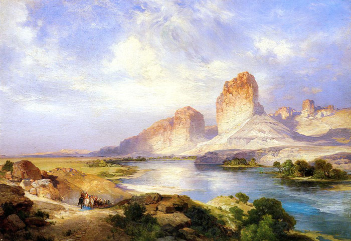 Moran Oil Painting Reproductions - Green River, Wyoming